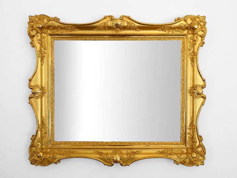 vergoldeter Blondel Spiegelrahmen