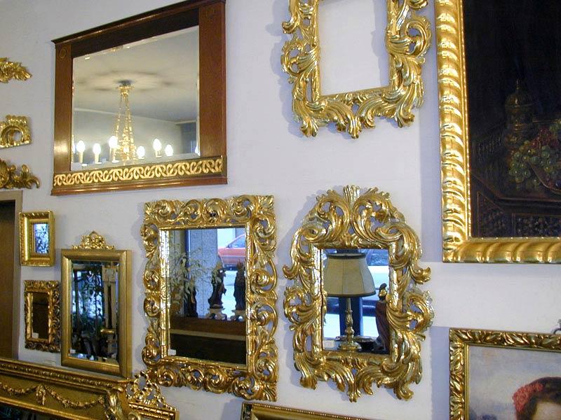 grosses Sortiment an vergoldeten Rahmen Spiegelrahmen