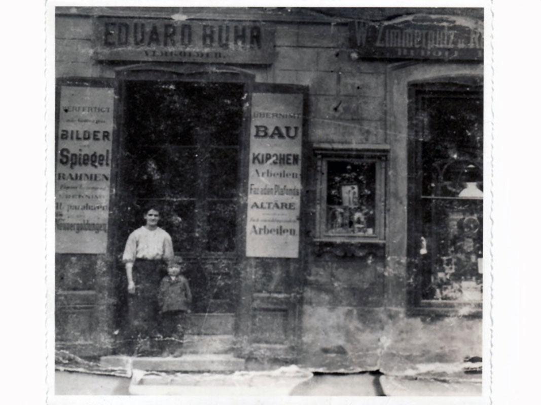 Vergolder Eduard Buhr 1898 in Wien