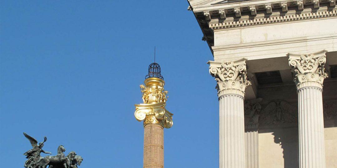 Vergoldung der Kamine des Wiener Parlaments