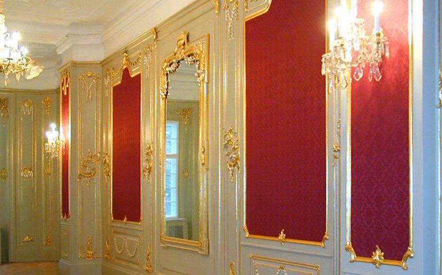 Vergoldung und Restaurierung der Prunkräume